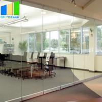 Buy cheap Collapsible Movable Partition Walls / Clamp Frameless Glass Partition Wall For Conference Center from wholesalers