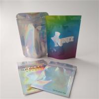 Buy cheap Plastic Food Coffee Edible Holographic Makeup Bag Transparent Hologram Pouch from wholesalers