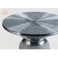 Buy cheap Lightweight Glass Fiberglass Furniture Pedestal Plant Stand Round Corner Table from wholesalers