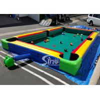Buy cheap Giant Human Inflatable Snooker Pool Table With Snooker Balls For Snooker Football Entertainment from wholesalers
