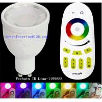 GU10 RGB spotlighting 4w RGBW LED bulbs E27 B22 B26 bulbs with remote control Manufactures
