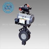 Buy cheap Pneumatic Actuator  Metal Hard Sealed Stainless Steel Butterfly Valve from wholesalers