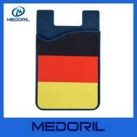 Wholesale Custom logo silicone smart card wallet for mobile cell phone from china suppliers