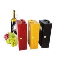 Buy cheap wine wooden box,wine wooden carrier,wine leather carrier,wine leather box,wine stopper from wholesalers