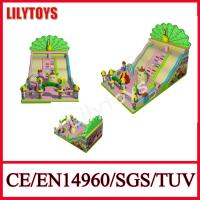 0.55 Mm Plato pvc New Happy Fun Peacock inflatable slide for sale certificate bt EN14960 and SGS Manufactures