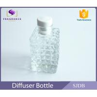Wholesale Square Perfume Diffuser Bottle , Aromatic Reed Diffuser Glass Bottle from china suppliers