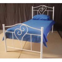 Simple Fully Welded Metal Frame Bed Single With Strong Structure Manufactures