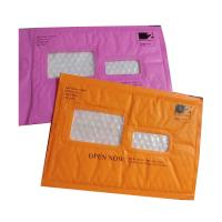 Buy cheap Pink Kraft paper  bubble mailers size #5 10.5x16 with window ideal for address label from wholesalers