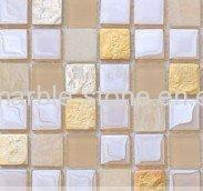 Wholesale Marble Mix Plating Colorful Glass Mosaic Tile with Frosting from china suppliers