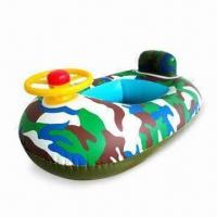 Wholesale Inflatable Babies' Boat, 0.25mm PVC, Customized OEM Designs Accepted, W/Wheel for Easily Catch from china suppliers