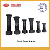 Buy cheap Black Customized Carbon Steel Excavator Bolts And Nuts from wholesalers