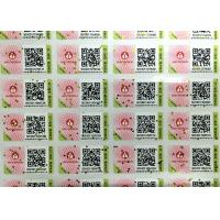 Buy cheap Glossy Varnish Hologram Security Stickers / A4 Paper Barcode Sticker from wholesalers