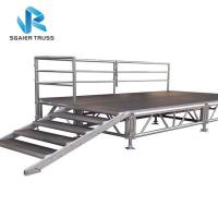 Buy cheap Portable Folding Stage Equipment Aluminum Mobile Stage Platform With Stair Step from wholesalers