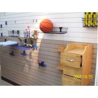Buy cheap SGS Certification PVC Slatwall Panels For Display / Shelves , Easy To Clean from wholesalers
