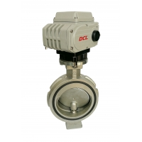 Buy cheap Refrigeration Pipe Used Electric Adjustable Triple Eccentric Butterfly Valve from wholesalers