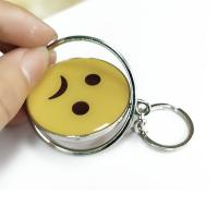 Buy cheap Smiling Face Custom Logo Keychains Yellow Circle With Eco-friendly Metal from wholesalers