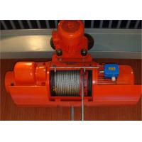 China High Efficiency Wire Rope Electric Hoist And Trolley , Electric Winches For Lifting on sale