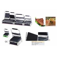 .Big Electric Full Grooved Sandwich Contact Grill with CE Certificate Manufactures