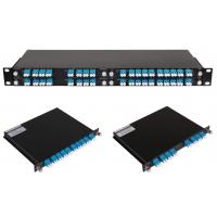Buy cheap 4,8,16 channel CWDM Module package in 1U Rackmount, Coarse Wavelength-division multiplexing from wholesalers