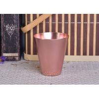 Buy cheap 95ml Rose Gold Taper Cone Shaped Aluminium Candle Vessel Metal Jars For Candle Making from wholesalers
