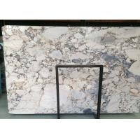 Buy cheap Galaxy Blue Marble Natural Stone Slabs 18mm Highly Polished Moisture Resistant product