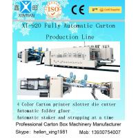 Buy cheap High Speed Corrugated Box Making Machine with Folder Gluer Inline from wholesalers