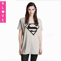 Buy cheap 2015 winter new European street loose short-sleeved Superman logo printed T-shirt tide from wholesalers