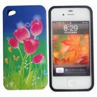 Wholesale Silicone Mobile Case for iPhone 4/4S with Full Color Printing from china suppliers