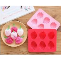Buy cheap Strawberry shape silicone ice cube mold from wholesalers