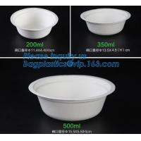 Buy cheap biodegradable sugarcane bagasse bowl,Food Grade Biodegradable Disposable Sugarcane Bagasse Bowl With Lid, pulp bowl pac from wholesalers
