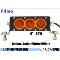 Buy cheap 6inch 30W Cree Amber White Led Light Bar Single Row Off road 4X4 Vehicles from wholesalers