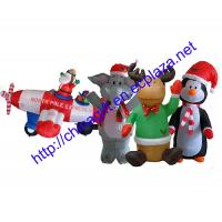 Buy cheap Christmas Inflatable Penguin, Elephant,Santa claus in plane from wholesalers