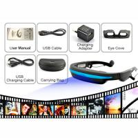 "50"" Virtual Display Eyewear Glasses Portable Movie Cinema With 32 GB TF Card, 4G Flash Manufactures"
