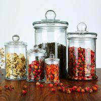 Buy cheap 150ml 350ml Empty Glass Bottles , Glass Storage Jars Tea For Candy Tea Packing from wholesalers