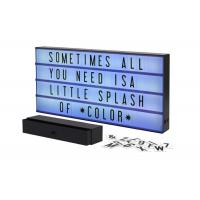 Buy cheap Marquee Personalised Cinema Lightbox Color Changing With 160 Letters Numbers from wholesalers