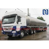 Buy cheap 3 Axles SHMC Brand 42,000 Liter Fuel Tanker Semi Trailer With 4 Inch Manhole Cover from wholesalers