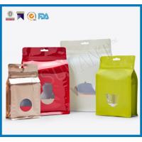 Buy cheap Custom Laminated Coffee Packaging Bags , Stand Up Pouches FDA Approved With Window from wholesalers