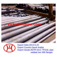 Wholesale ASTM A312 TP316L steel pipe welded two WN flanges from china suppliers