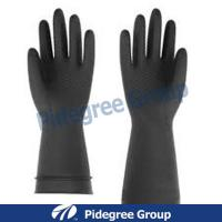 Non-Lined, Flock-Lined, Black, Natural Latex Industrial Gloves Manufactures