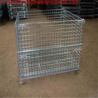 Buy cheap Storage Wire Mesh Cage/metal turnover storage box/wire container storage cage ,Metal cage storage container,wire mesh from wholesalers