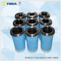 Buy cheap Bomco F1600 Triplex Mud Pump Liner Chromium Content 26-28% HRC Hardness product
