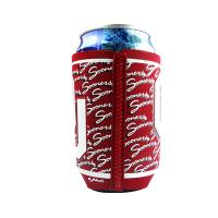 Buy cheap Red Flat Neoprene Can Cooler With Heated Tape By Zig-Zag Stithing from wholesalers