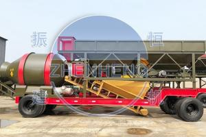 Wholesale YHZM 500L Mobile Concrete Batching Plant With Drum / Twin Shaft Mixer from china suppliers