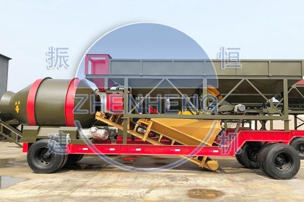 Quality YHZM 500L Mobile Concrete Batching Plant With Drum / Twin Shaft Mixer for sale