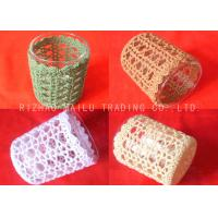 Buy cheap 100% Cotton Crochet Mug Covers Colorful Embossed Knitted Coffee Cup Sleeve from wholesalers