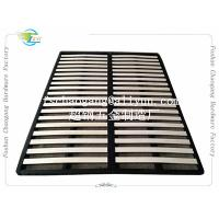 Buy cheap Convenient Folding Metal Bed Frame With Wooden Slats Single / Double Size from wholesalers