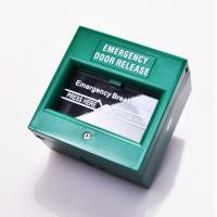 DPDT White Break Glass Call Point Emergency Exit Push Button With Changeable Glass Manufactures