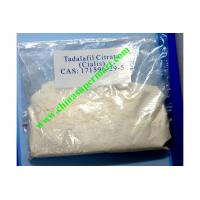 Buy cheap Sex Drugs 99.5% High Purity Tadalafil Citrate , Raw Cialis Steroids Powder For Strength from wholesalers