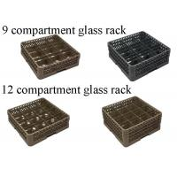Buy cheap PP Compartment Glass Rack Kitchen Plate Rack For Commercial Dishwashing Machine from wholesalers