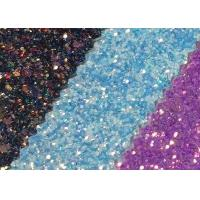 Attractive Style 3D Glitter Fabric Multi Color Pu Glitter Leather Rainbow Chunky Glitter Fabric